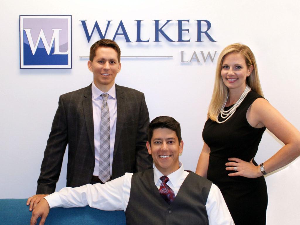 Walker Law team in their San Diego office